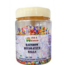 Rainbow Balls Decorative Sprinkles (100 g, Chocolate)