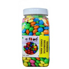Rainbow Decorative Choco Jewel Sprinkles (100 g, Chocolate)