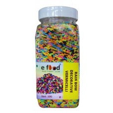Rainbow Decorative Vermecelli Sprinkles (100 g, cocoa)
