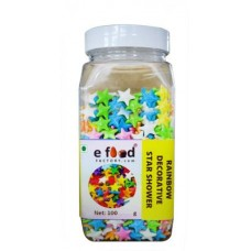 Rainbow Star Shower Decorative Sprinkles (100 g, cocoa)