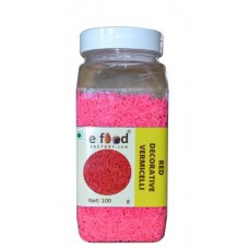 Red Decorative Vermecelli Sprinkles (100 g, Vanilla)