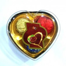 Heart Shape Chocolate box in 3 Pec Small Pack 38 Gm Caramels (38 g)