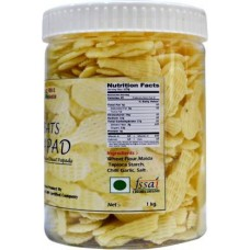 Bats Papad Home Made Chaat 1 Kg in Pet Jar Fryums 1 kg ()