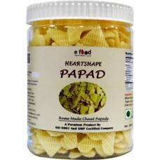 HeartShaped Papad Home Made Chaat 1kg In Pet Jar Fryums 1 kg ()