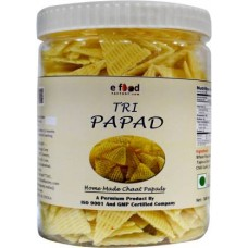 Tri Papad Home Made Chaat 1kg In Pet Jar Fryums 1 kg ()