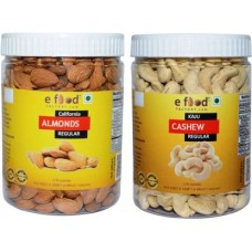 Almonds Regular & Cashew Regular (500 gm Each) In Pet Jar Cashews, Almonds (2 x 500 g)