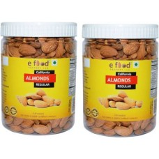 Almonds Regular Set Of 2(500 gm Each) In Pet Jar Almonds (2 x 500 g)