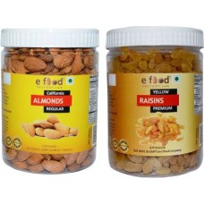 Almonds Regular & Yellow Kishmish Premium (500 gm Each) Almonds, Raisins (2 x 500 g)