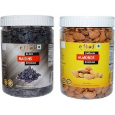 Black Kishmish Regular & Almonds Regular (500gm Each) In Pet Jar Almonds, Raisins (2 x 500 g)