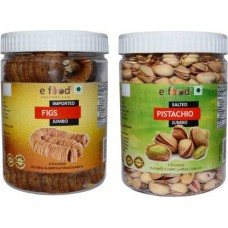 Imported Figs Jumbo&Salted Pista Jumbo (500gm Each) In Pet Jar Pistachios, Figs (2 x 500 g)