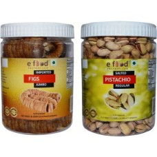 Imported Figs Jumbo&Salted Pista Regular (500gm Each) In Pet Jar Pistachios, Figs (2 x 500 g)
