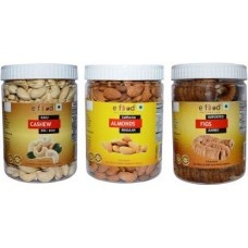 Cashew XXL Bold,Almonds Regular&Figs Jumbo(500gm Each) Cashews, Almonds, Figs (3 x 500 g)