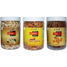 Cashew XXL Bold,Almonds Regular & Figs Regular(500gm Each) Cashews, Almonds, Figs (3 x 500 g)