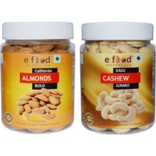 Almonds Bold & Cashew Jumbo (250gm Each) In Pet Jar Cashews, Almonds (2 x 250 g)