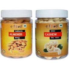 Almonds Bold & Cashew XXL Bold (250gm Each) In Pet Jar Cashews, Almonds (2 x 250 g)