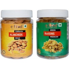 Almonds Bold & Green Kishmish Premium(250gm Each) In Pet Jar Almonds, Raisins (2 x 250 g)