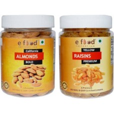 Almonds Bold & Yellow Kishmish Premium (250gm Each) In Pet Jar Almonds, Raisins (2 x 250 g)