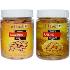Almonds Bold & Yellow Kishmish Regular (250gm Each) In Pet Jar Almonds, Raisins (2 x 250 g)