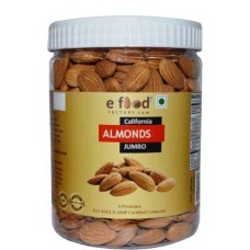 Almonds Jumbo 500 In Pet Jar Almonds (500 g)