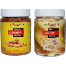 Almonds Regular & Cashew Jumbo (250gm Each) In Pet Jar Cashews, Almonds (2 x 250 g)