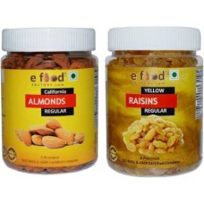 Almonds Regular&Yellow Kishmish Regular(250gm Each)In Pet Jar Almonds, Raisins (2 x 250 g)