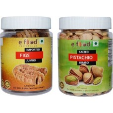 Imported Figs Jumbo & Salted Pist Jumbo(250gm Each)In Pet Jar Pistachios, Figs (2 x 250 g)