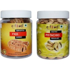 Imported Figs Jumbo & Salted Pistachio Regular(250gm Each) Pistachios, Figs (2 x 250 g)