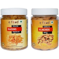 Yellow Kishmish Premium & Almonds Bold(250gm Each) Almonds, Raisins (2 x 250 g)