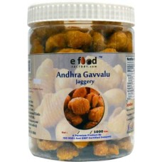 Andhra Gavvalu ( Jaggery ) In Pet Jar 1000 Gm Mason Jar (1000 g)